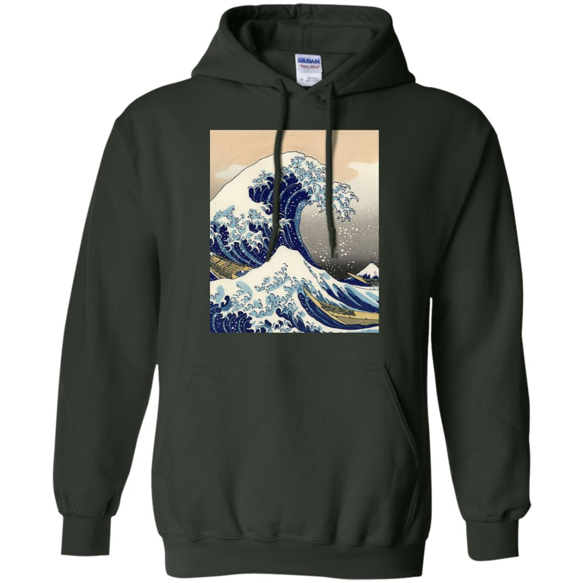The Great Wave off Kanagawa Japan Pullover Hoodie