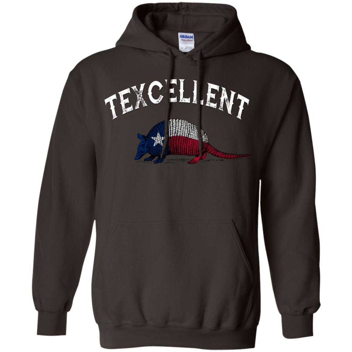 Texcellent Vintage Armadillo Texas Flag Pullover Hoodie