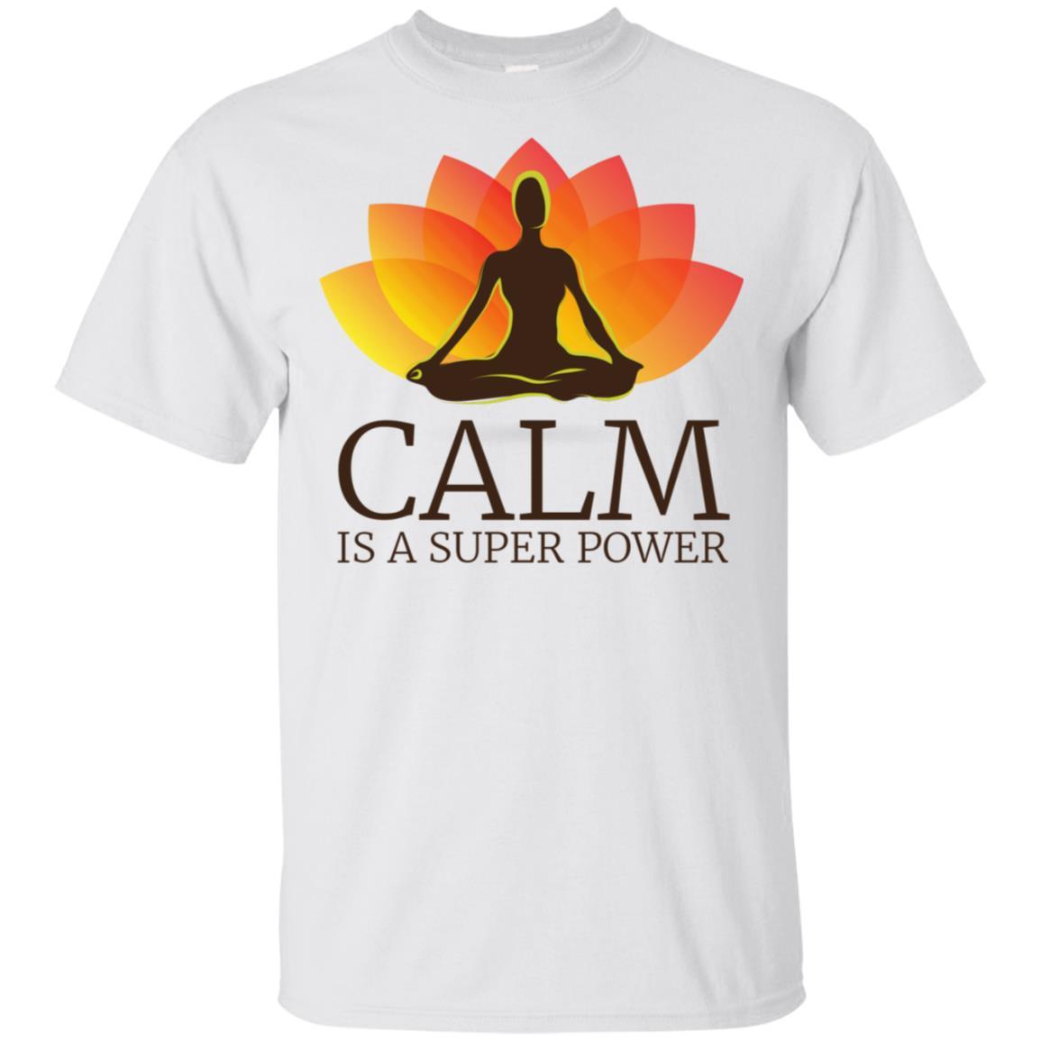 Yoga – Calm Is A Super Power – Yogis Meditation Unisex Short Sleeve