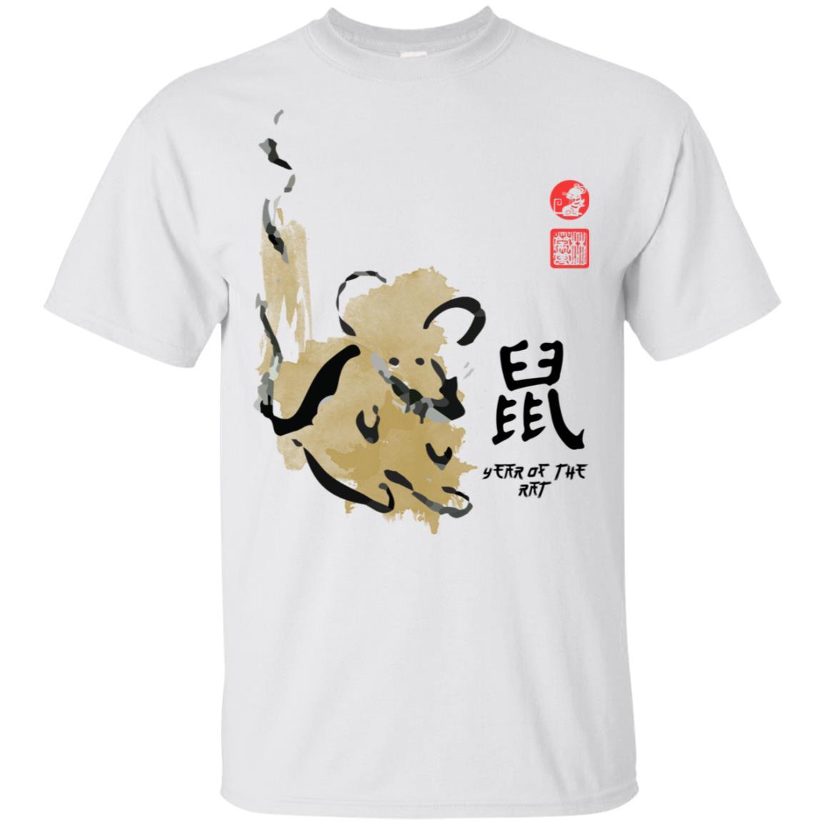 Year Rat Painting Seal Animal Chinese Zodiac Unisex Short Sleeve