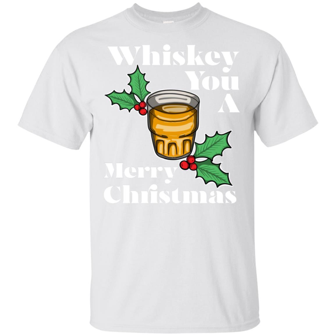 Whiskey Christmas Whisky Mistletoe Unisex Short Sleeve