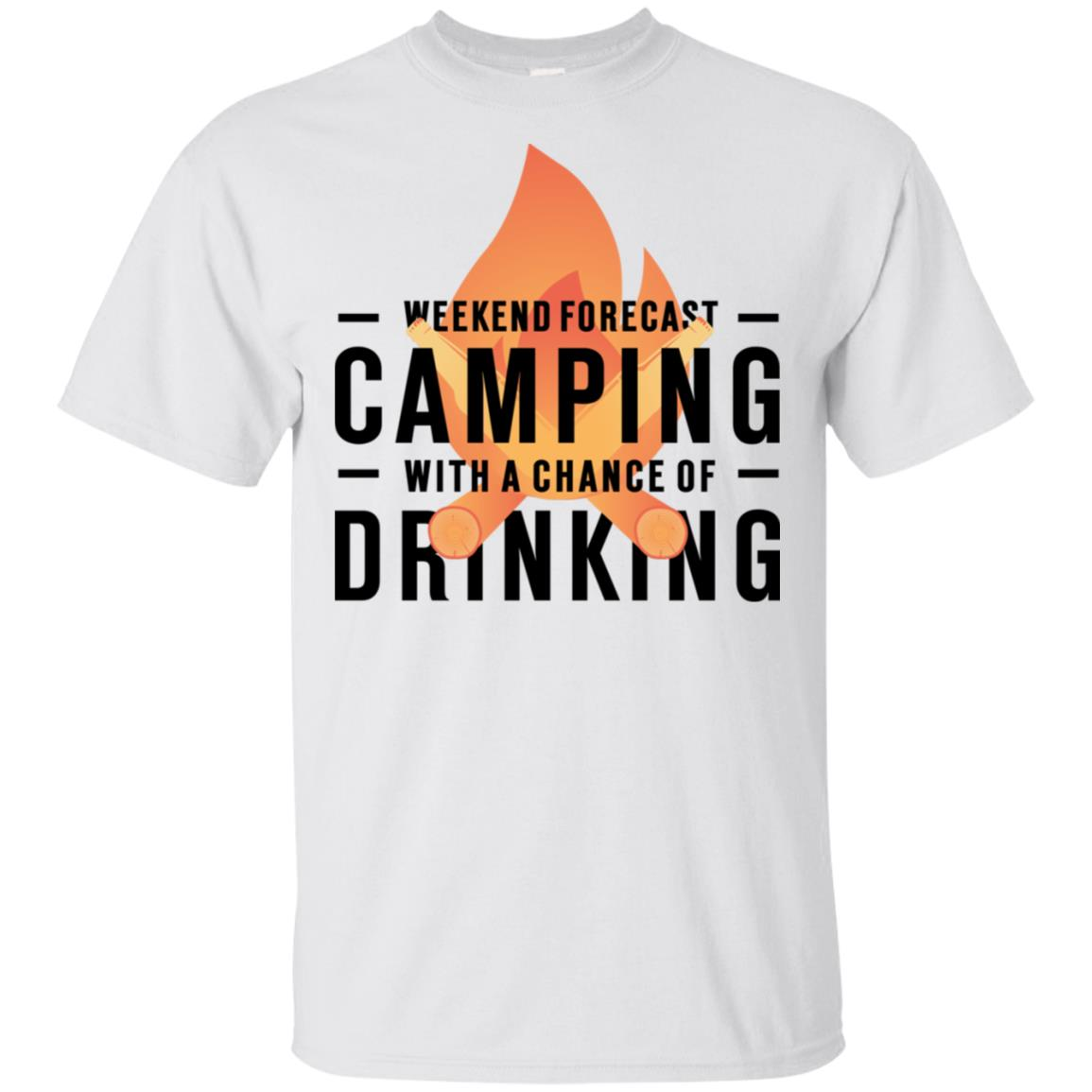 Weekend Forecast Camping With A Chance Of Drinking Unisex Short Sleeve