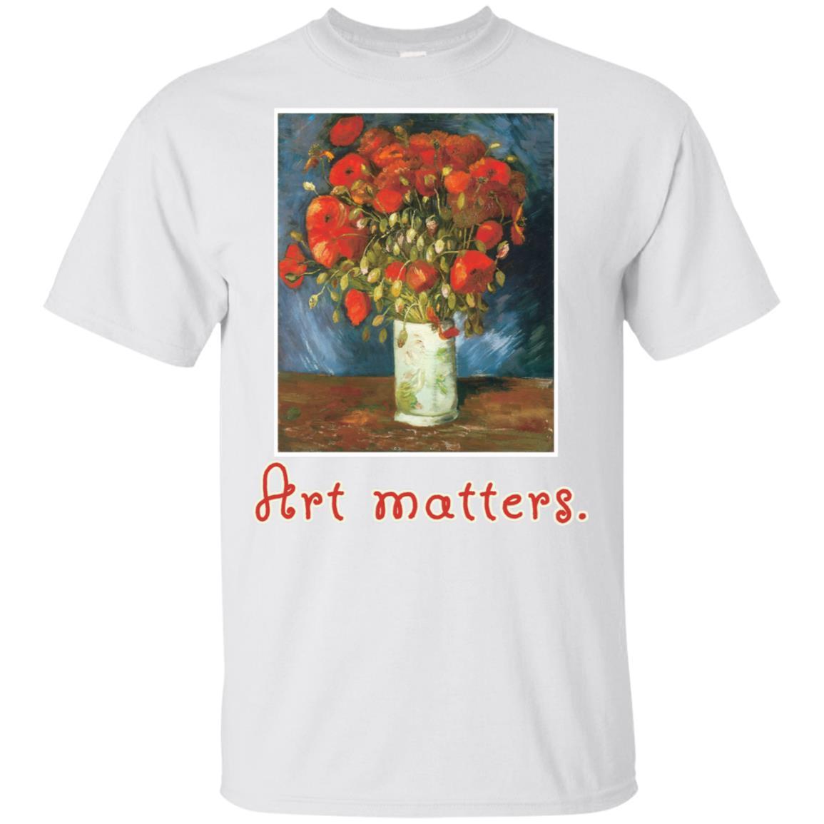 Van Gogh Red Poppies Unisex Short Sleeve