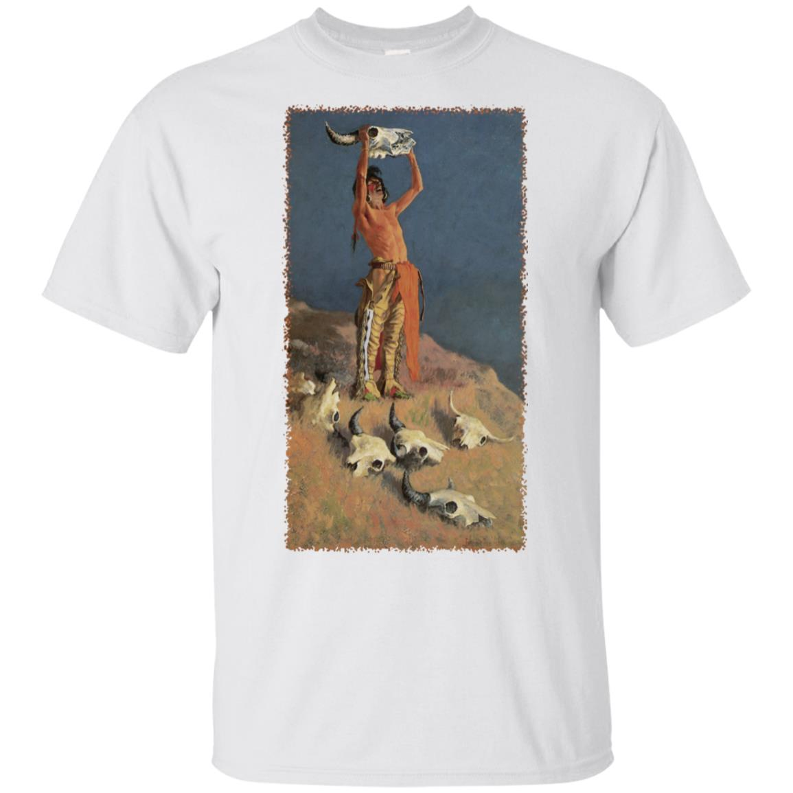 Conjuring Back the Buffalo by Frederic Remington Unisex Short Sleeve