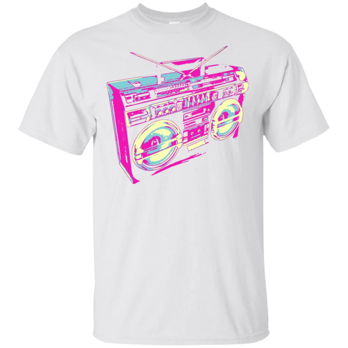 Cool 80s Boombox Stereo Unisex Short Sleeve