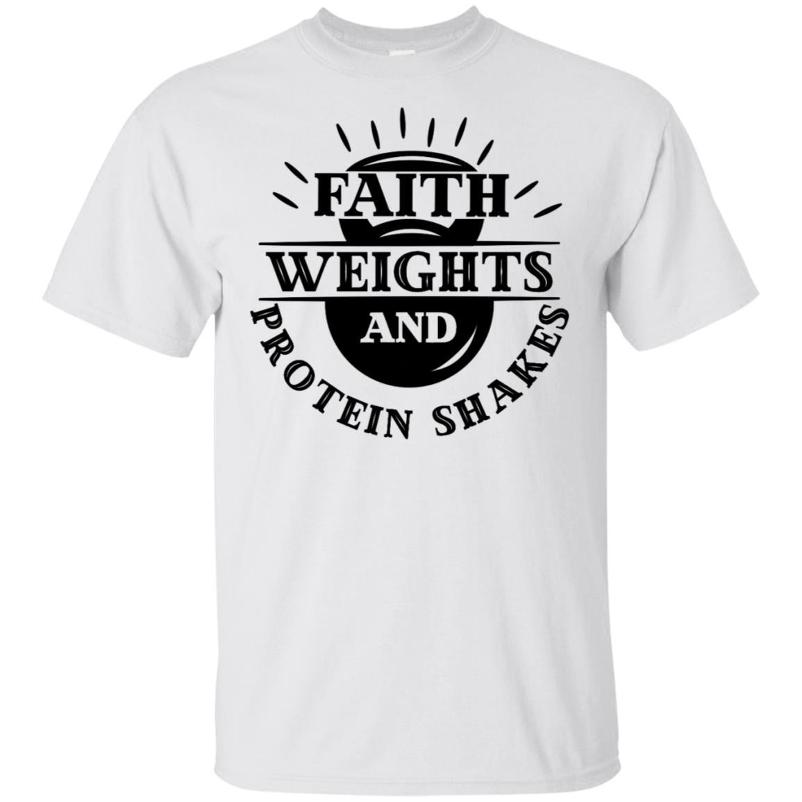 Christian Fitness Faith Weights Protein-1 Unisex Short Sleeve