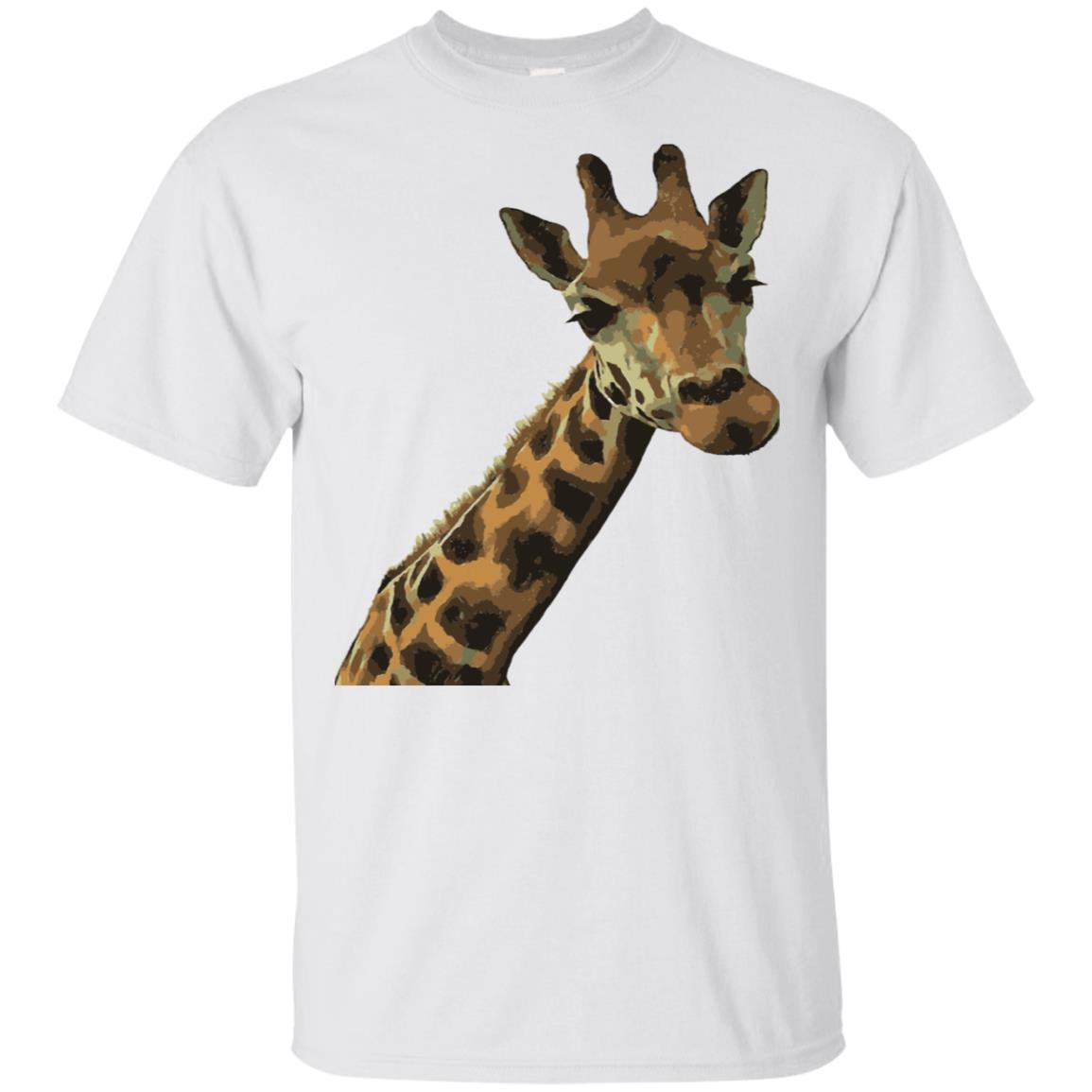 Fun Giraffe With Nerdy Expression Vector Unisex Short Sleeve