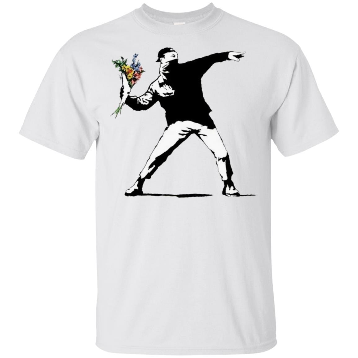 Flower Thrower Graffiti Street Artist Unisex Short Sleeve