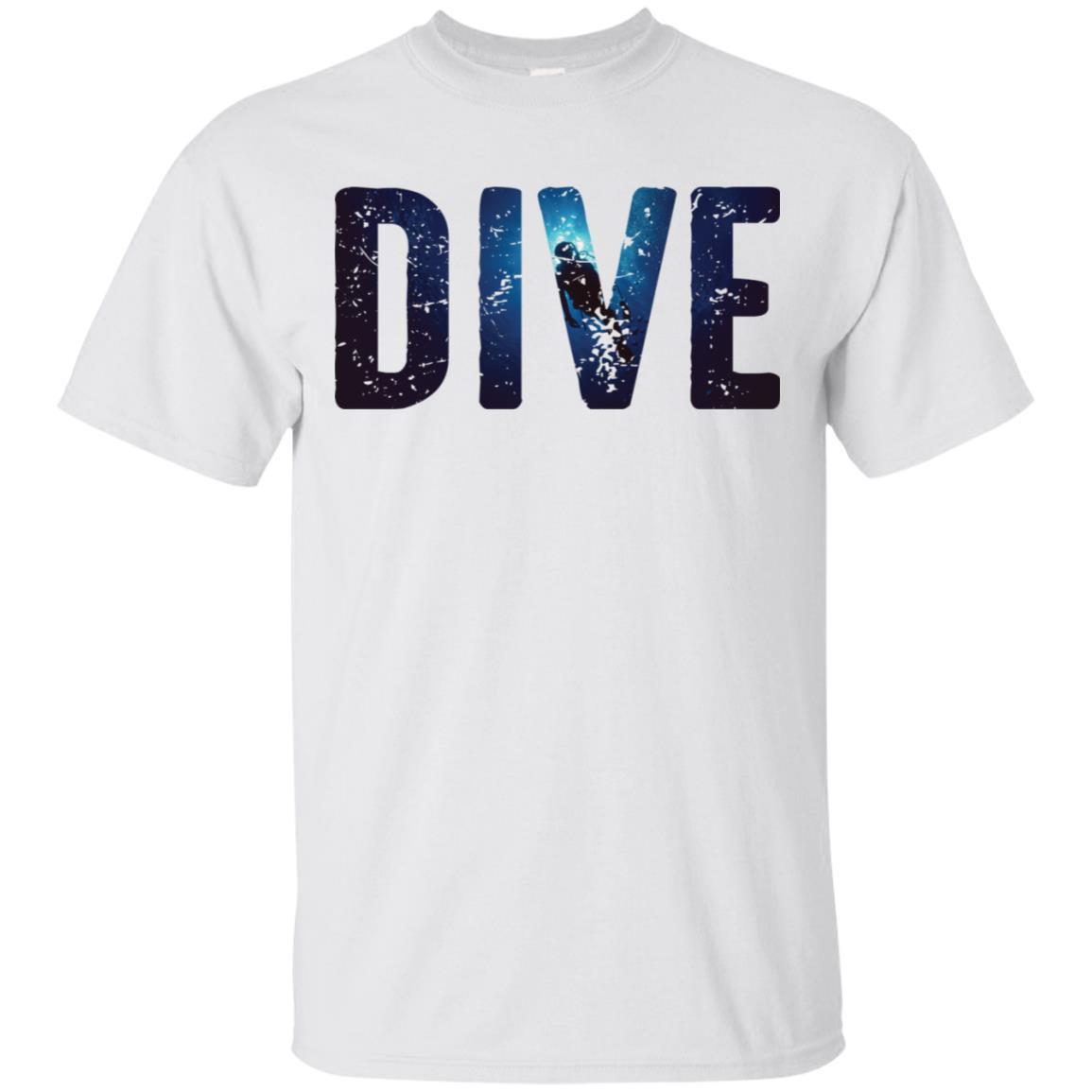 Dive Scuba Diver Silhouette Long Scuba Diving Unisex Short Sleeve