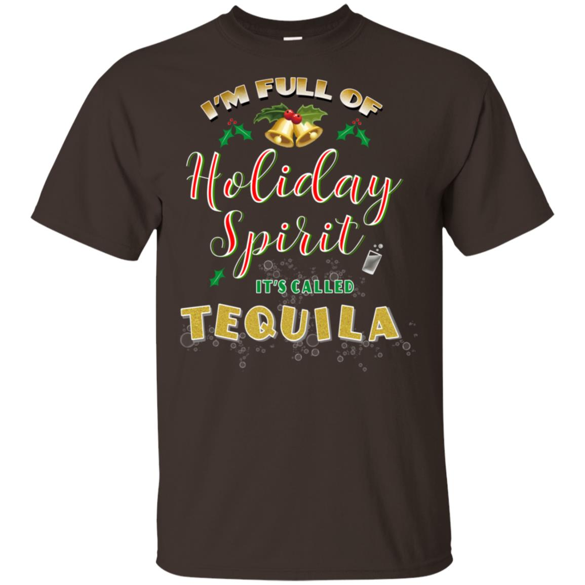 Funny Holiday Spirits Tequila Christmas Drinking Unisex Short Sleeve