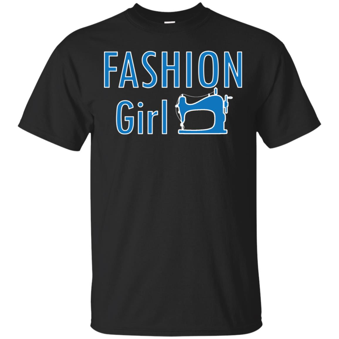 Cute Sewing Machine Fashion Girl Unisex Short Sleeve