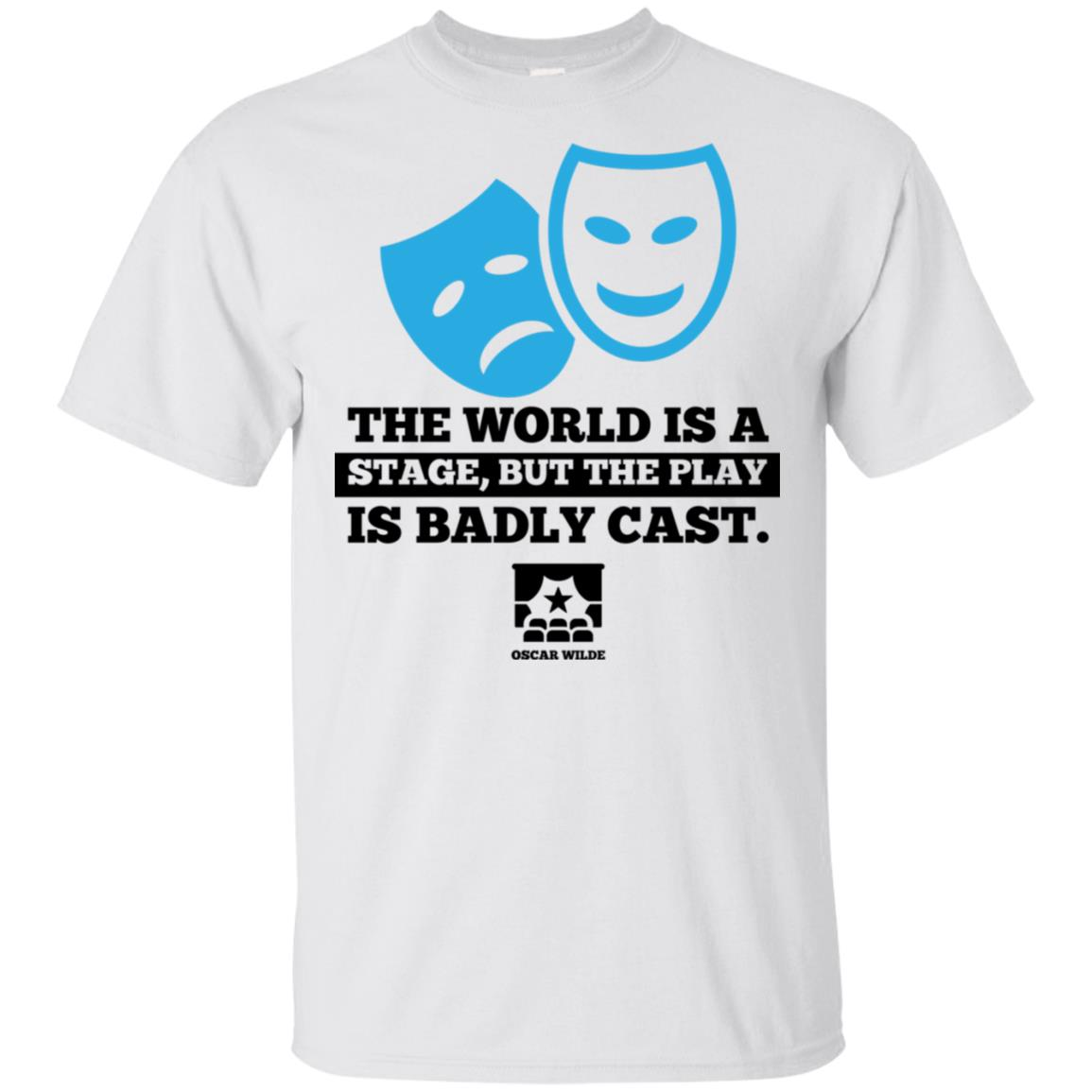 World Is a Stage Theatre Masks Cute Actor Gift Unisex Short Sleeve