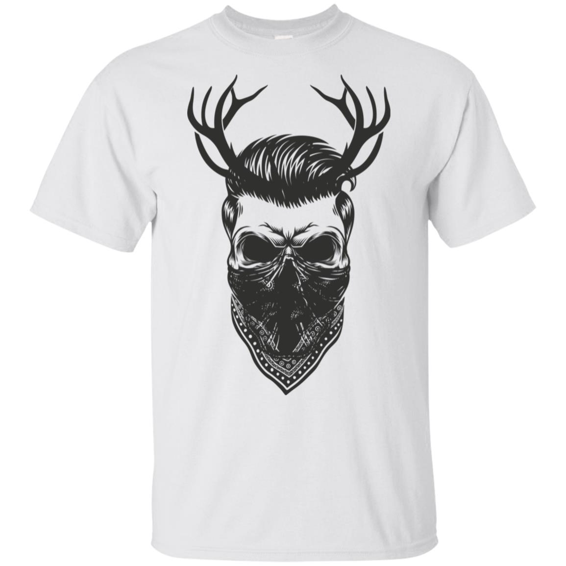Hipster With Deer Antlers & B&ana Motorcyclist Unisex Short Sleeve