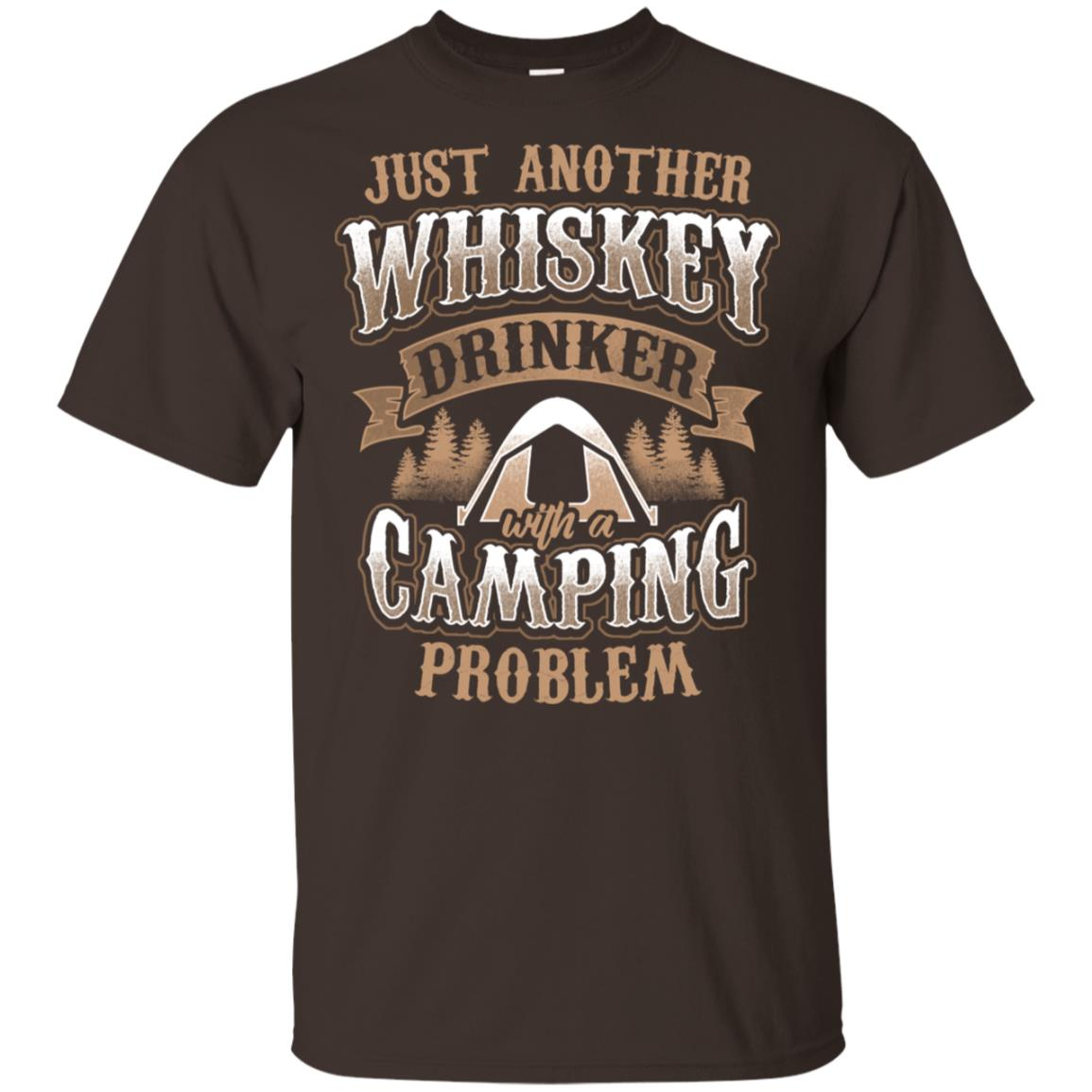 Whiskey Drinker With A Camping Problem Funny Gift Ls Unisex Short Sleeve