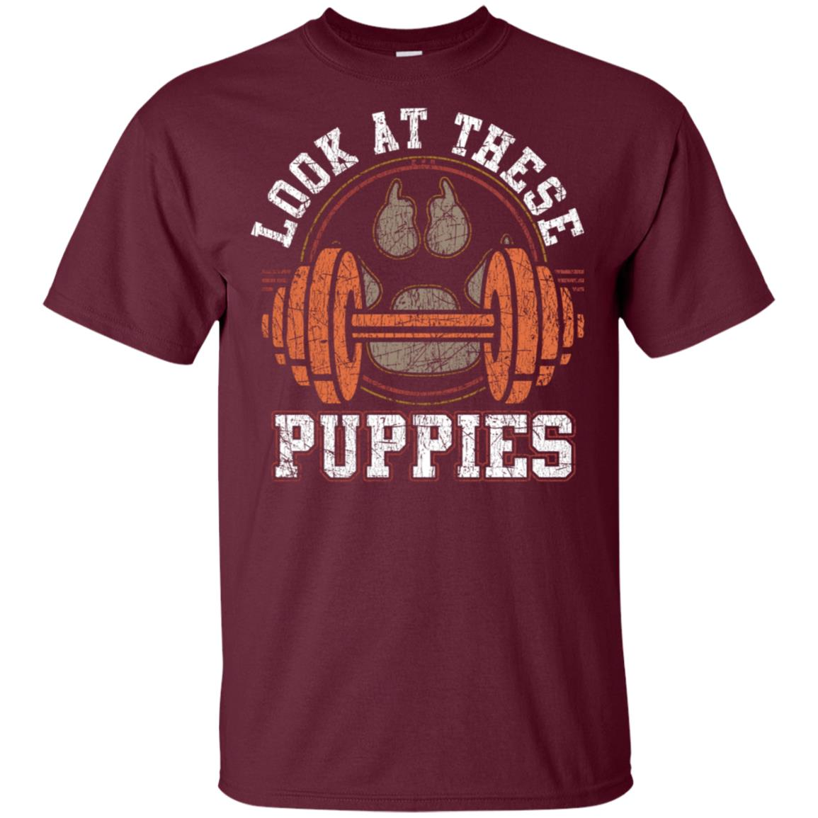 Weightlifting Look These Puppies Pun Gym Unisex Short Sleeve