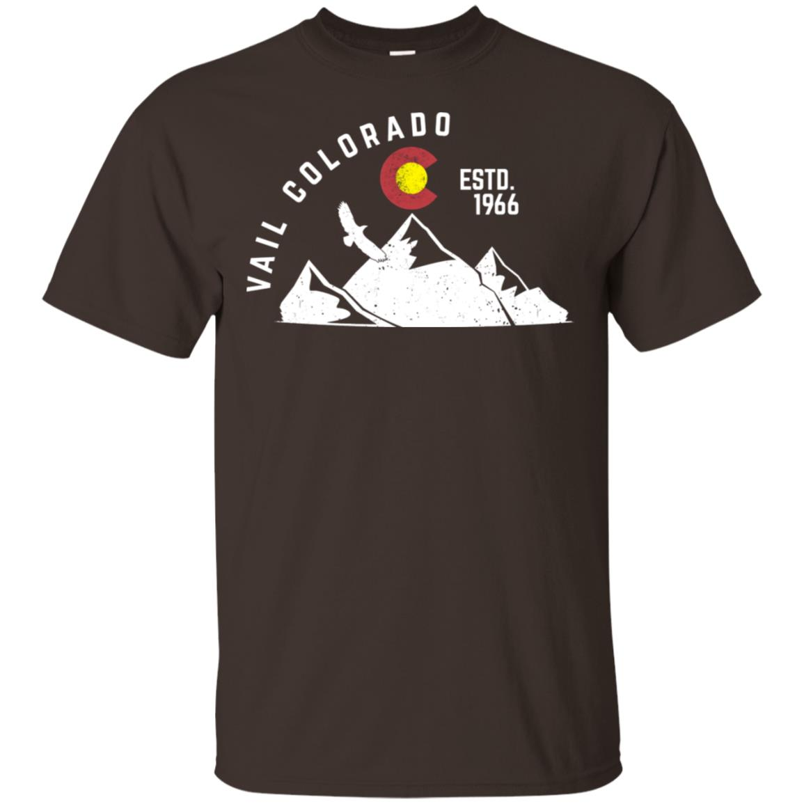 Vail Colorado Estd 1966 Colorado Flag Unisex Short Sleeve
