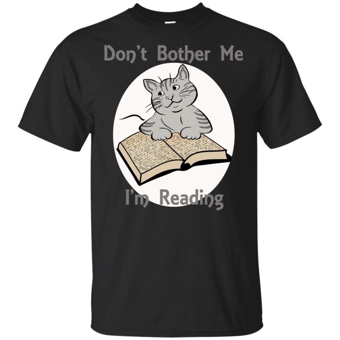 Don't Bother Me I'm Reading Cat Tee Unisex Short Sleeve