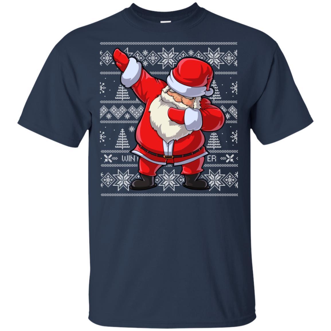 Christmass for Boys Dabbing Santa Kids Girls Xmas Gift-1 Youth Short Sleeve