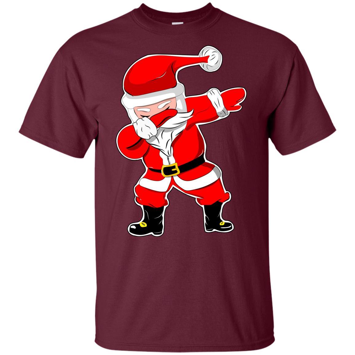 Christmass for Boys Dabbing Santa Kids Girls Xmas Gift Youth Short Sleeve