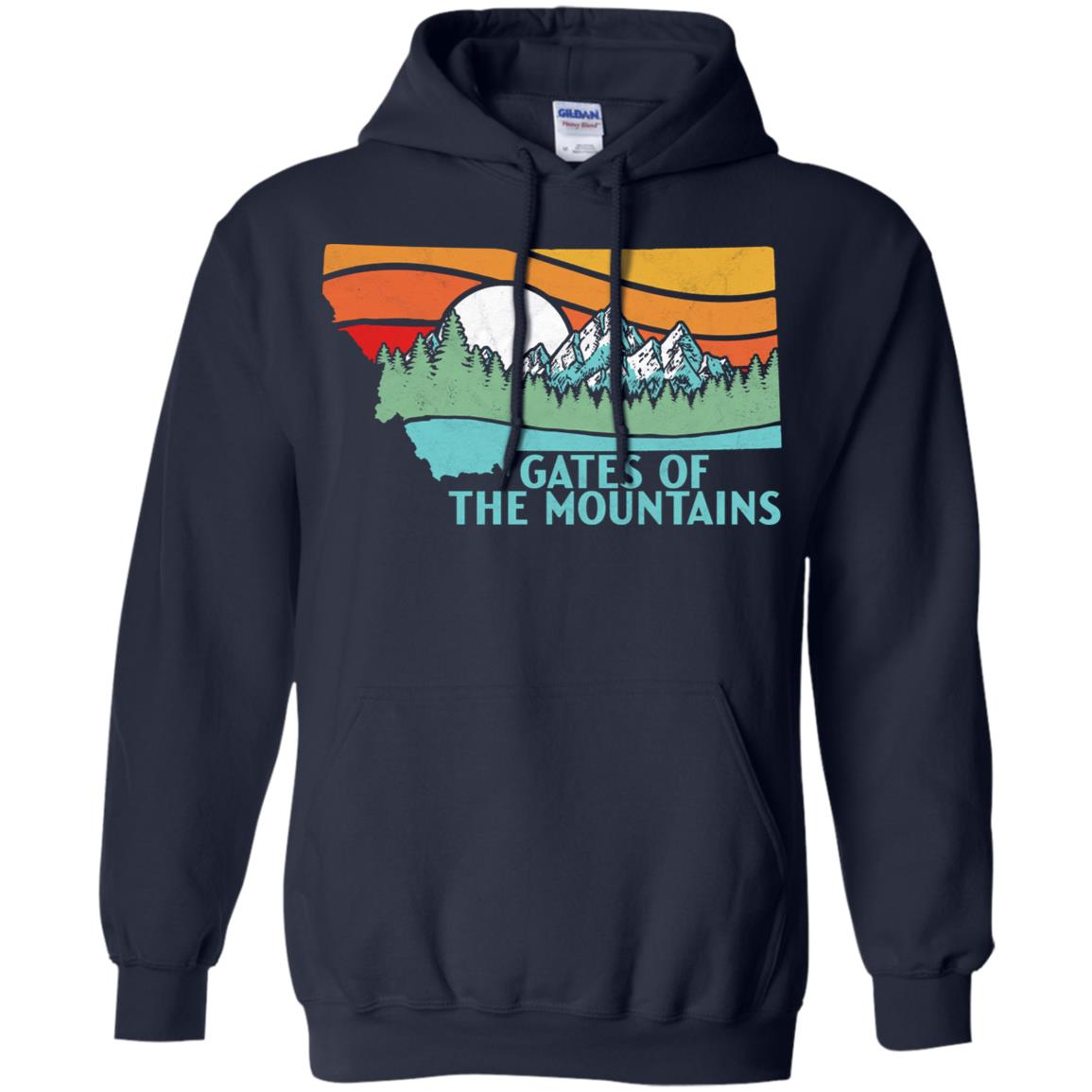 Gates of the Mountains Wilderness Montana Pullover Hoodie