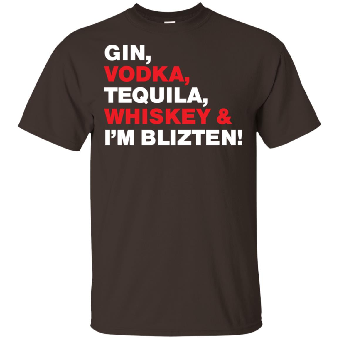 Gin, Vodka, Tequila Whiskey & I'm Blitzen-1 Unisex Short Sleeve