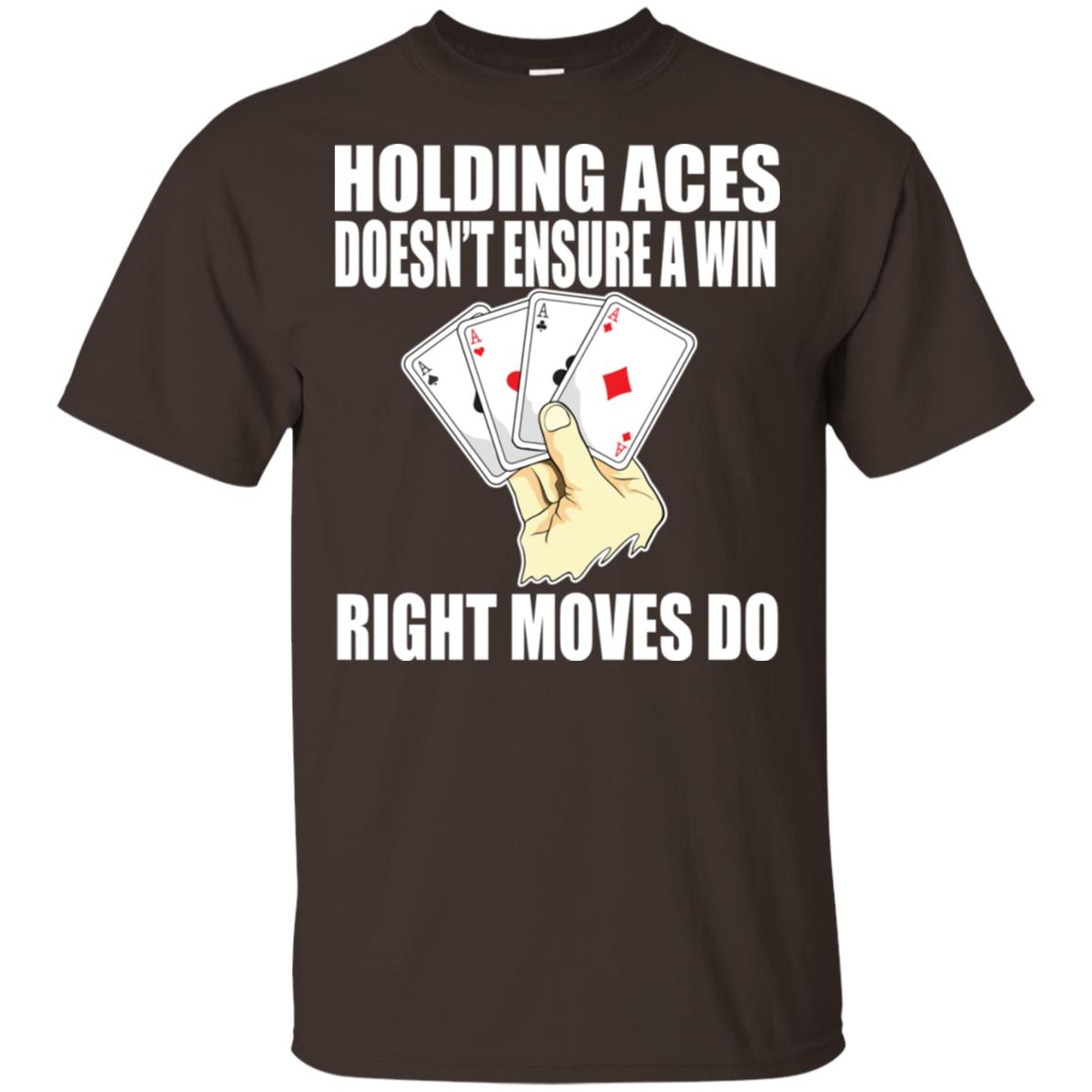 Holding Aces Playing Cards Sayings Unisex Short Sleeve