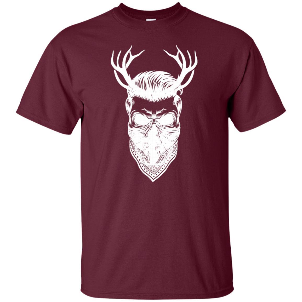 Hipster With Deer Antlers & Bandana Motorcyclist Unisex Short Sleeve