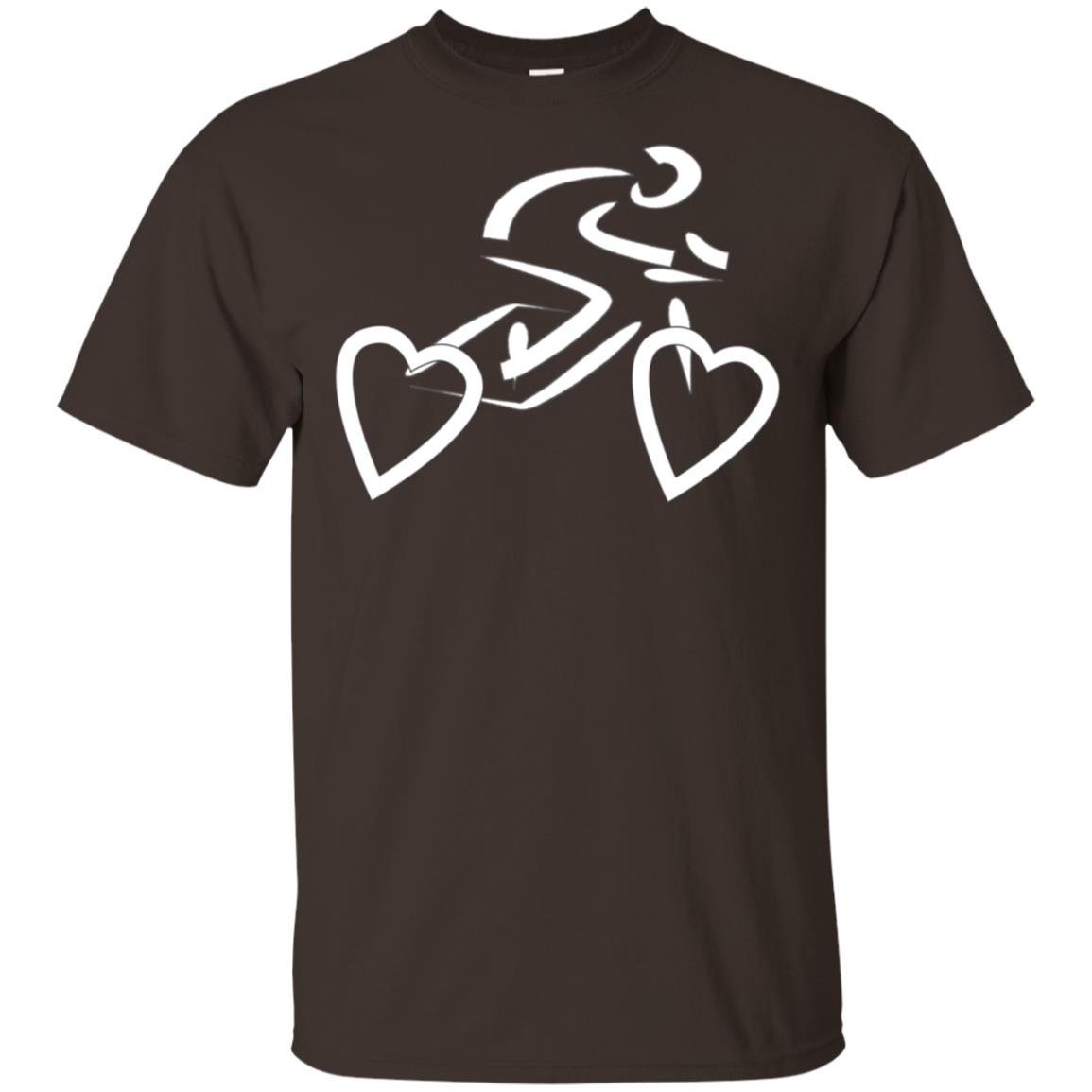 Heart Bicycle for Bike Riders Heart Cyclist Gifts Unisex Short Sleeve