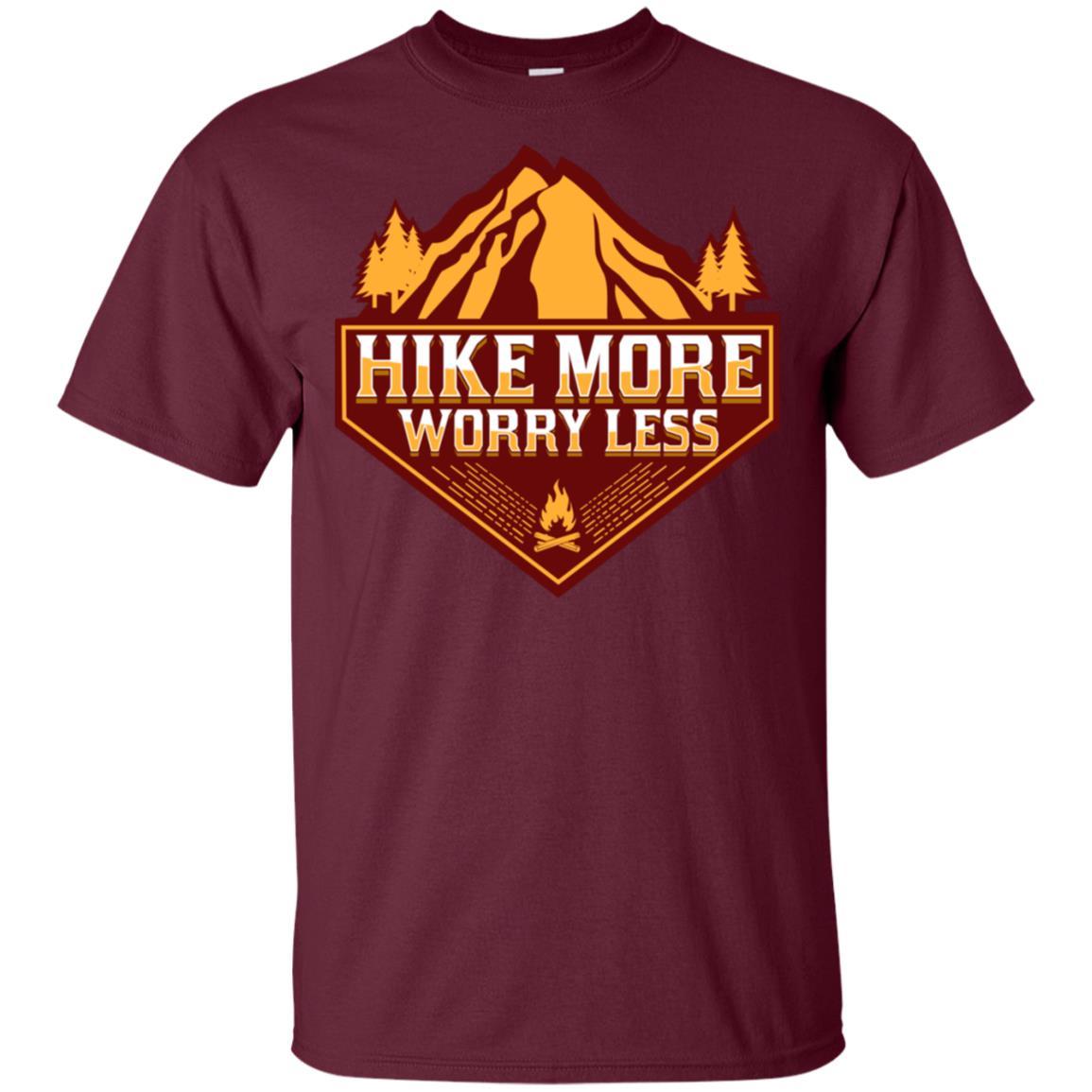 Hike More Worry Less Hiking Camp Gift Unisex Short Sleeve