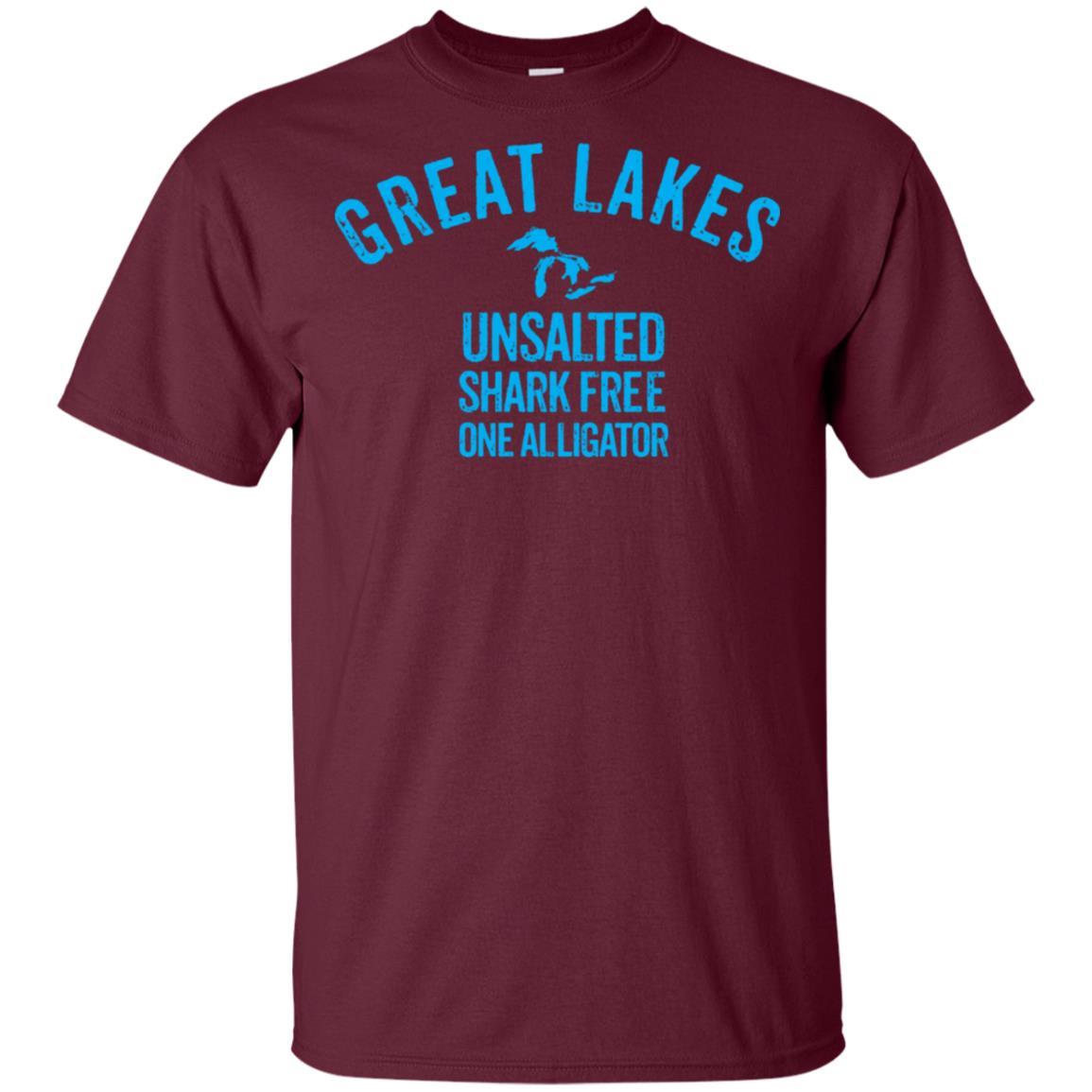 Great Lakes Unsalted Shark Free One Alligator Unisex Short Sleeve