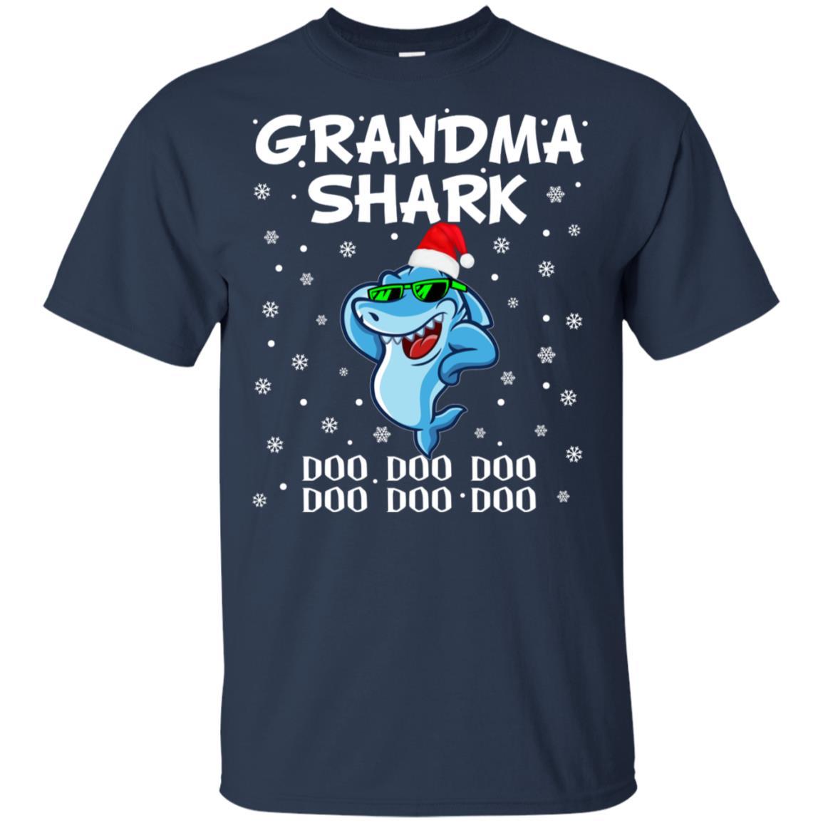 Grandma Shark Doo Doo Christmas for Family Pajamas Unisex Short Sleeve