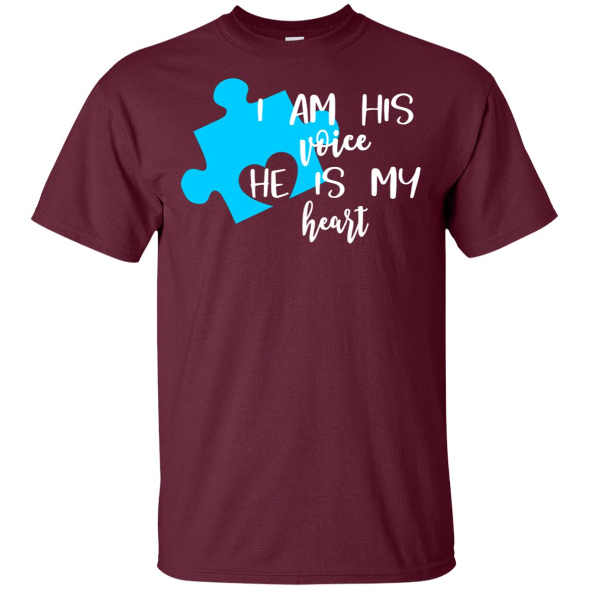 I Am His Voice He is My Heart Autism Tee Unisex Short Sleeve