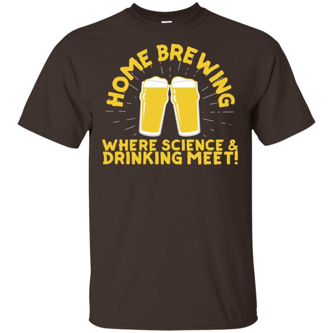 Home Brewing Science & Drinking Meet Unisex Short Sleeve