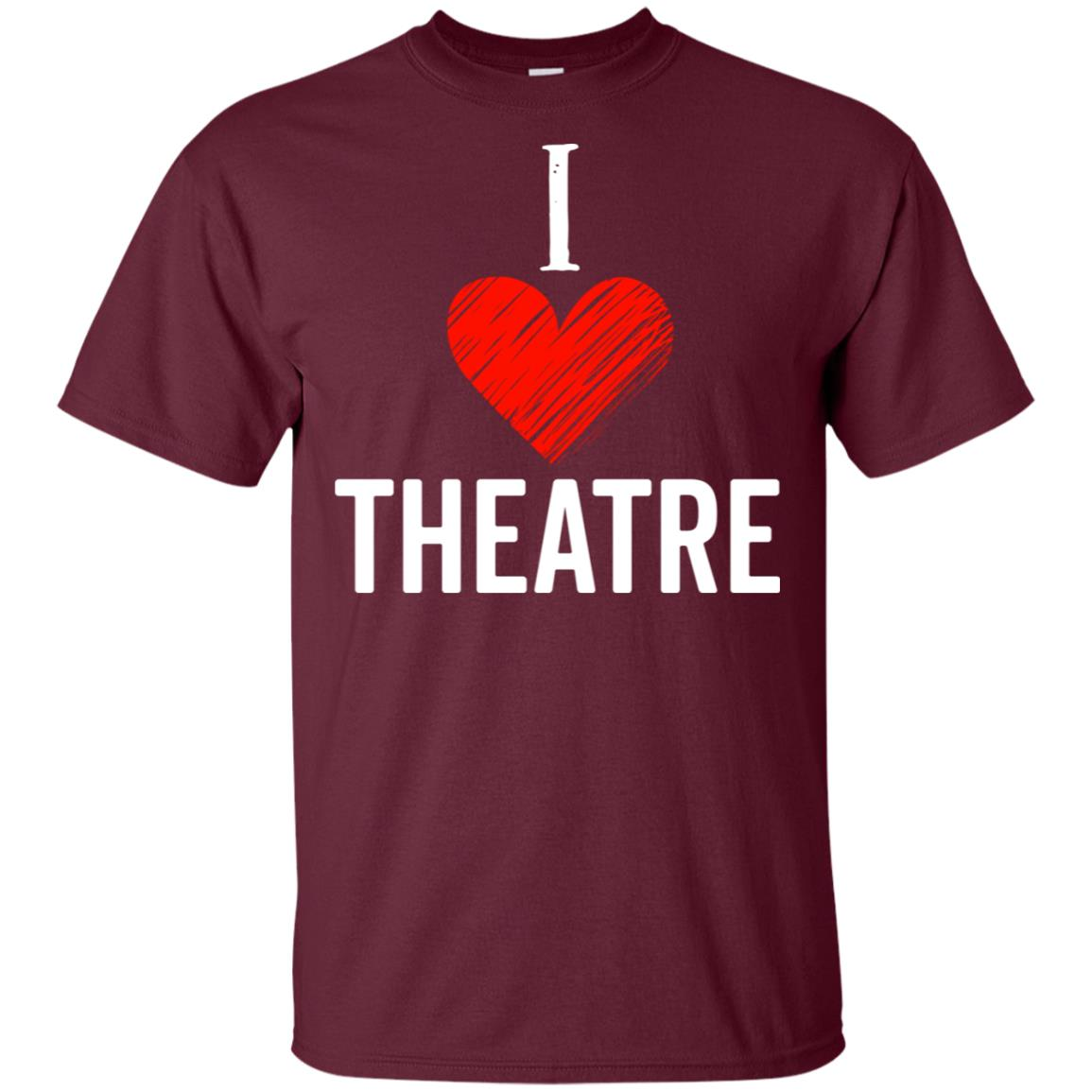 I Love Theatre Heart Broadway Musical Acting Christmas Unisex Short Sleeve