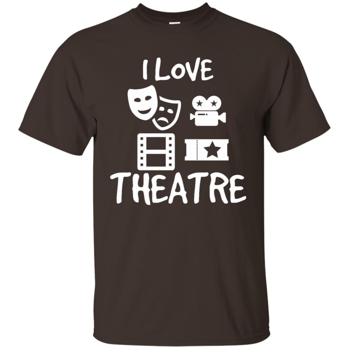 I Love Theatre Fun Action Cameras Gift for Actors Unisex Short Sleeve
