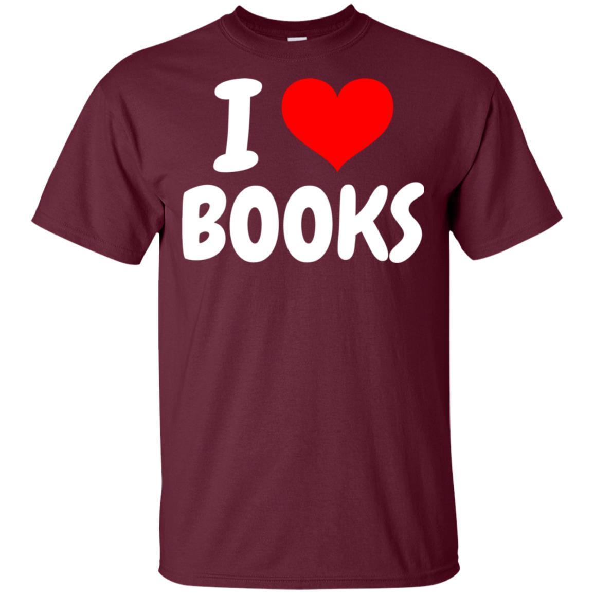 I Love Books Gift Unisex Short Sleeve