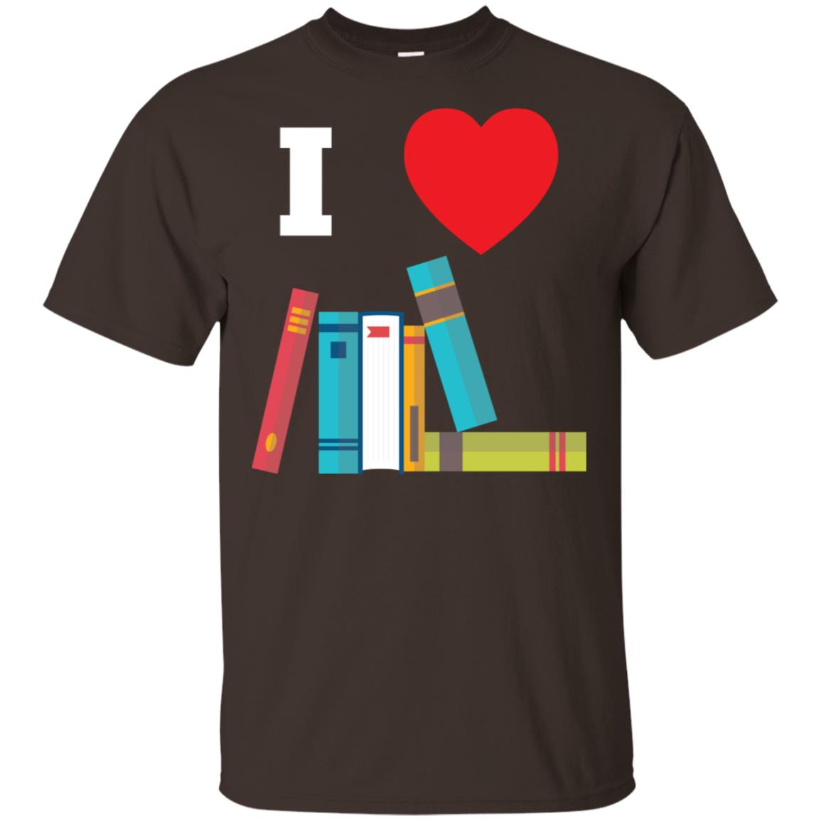 I Love Books Gift For Readers, Writers, Librarians Unisex Short Sleeve