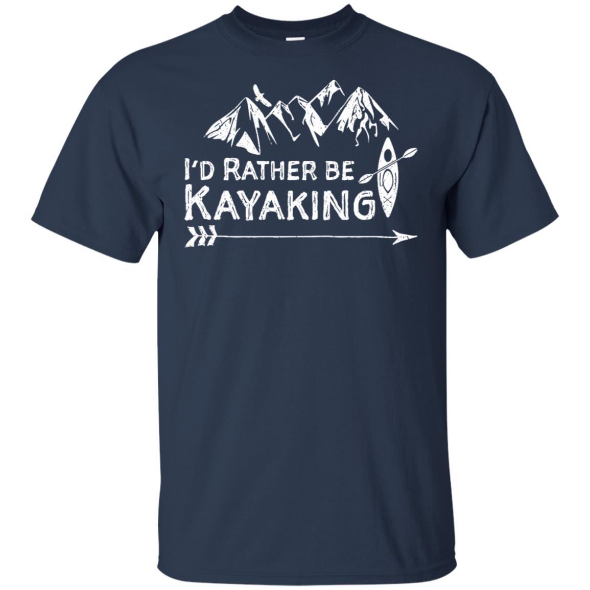 I'd Rather Be Kayaking Outdoors Kayak Unisex Short Sleeve