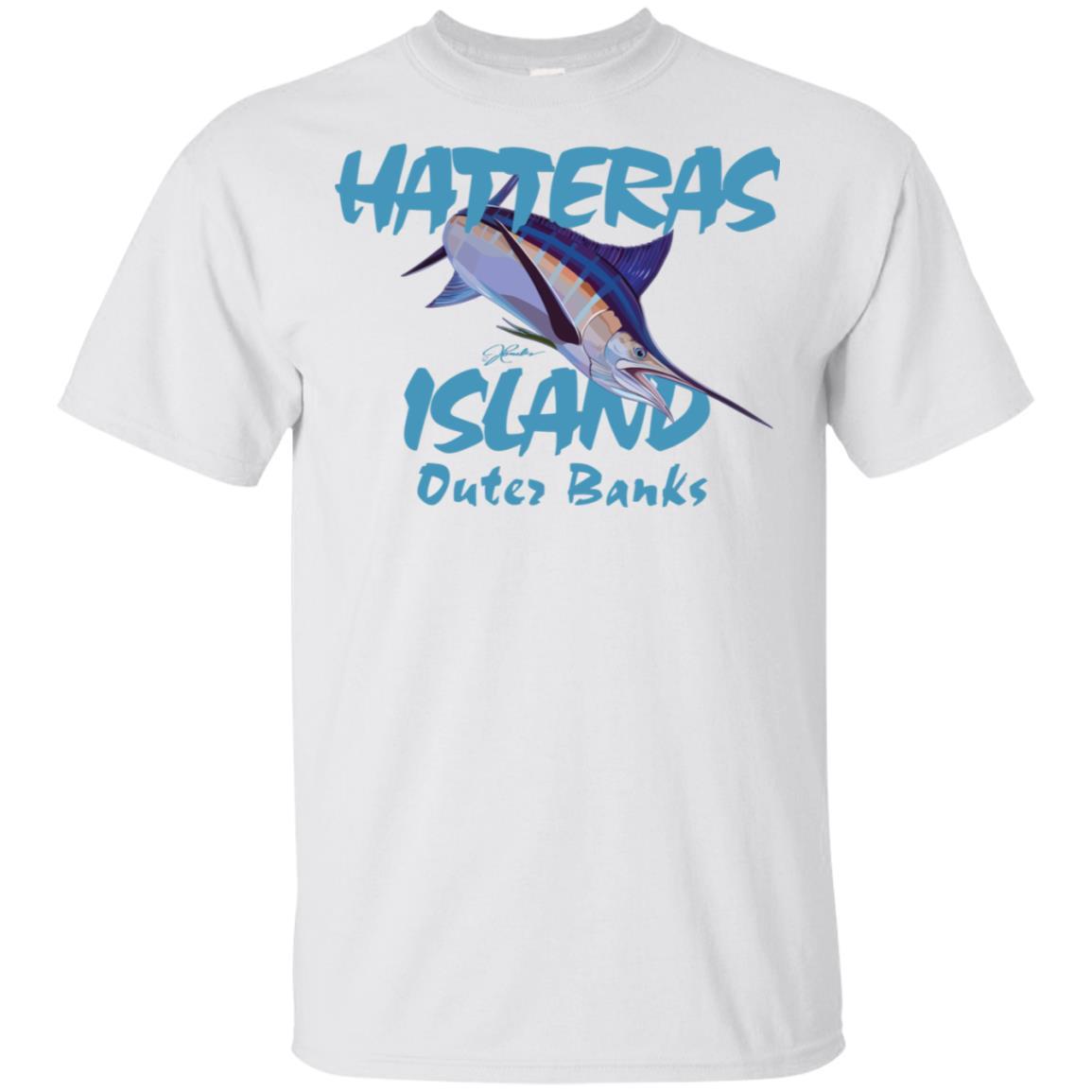 JCombs Hatteras Island, Nc, Blue Marlin Unisex Short Sleeve