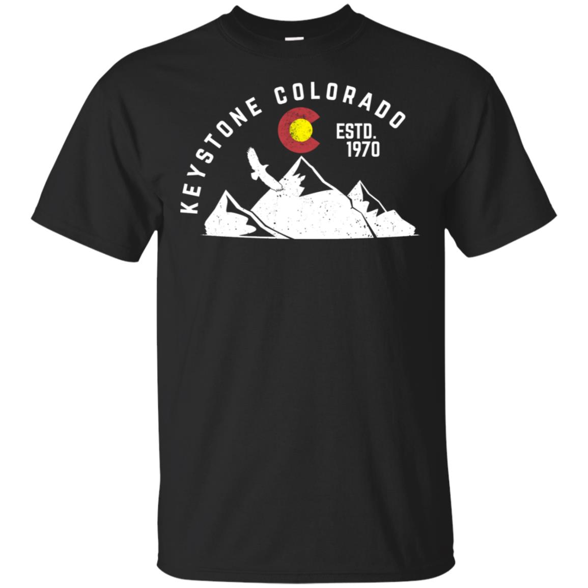 Keystone Colorado Estd 1970 Vintage Unisex Short Sleeve