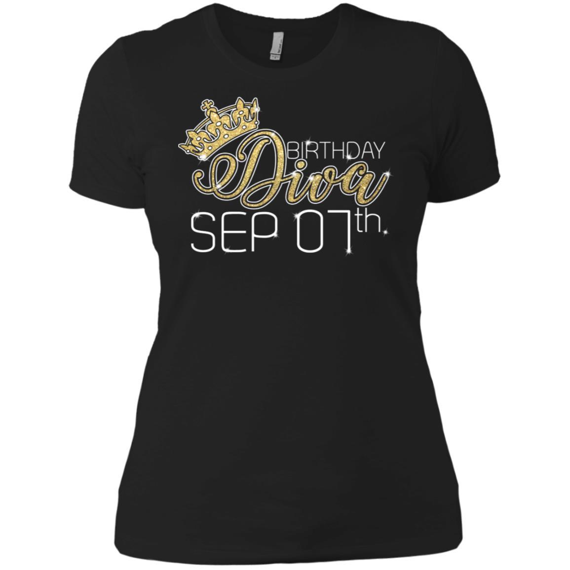 Birthday Diva on September 7th Virgo Pri Women Short Sleeve