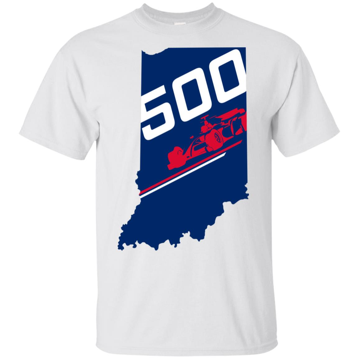 Indiana State Flag with Number 500 Unisex Short Sleeve