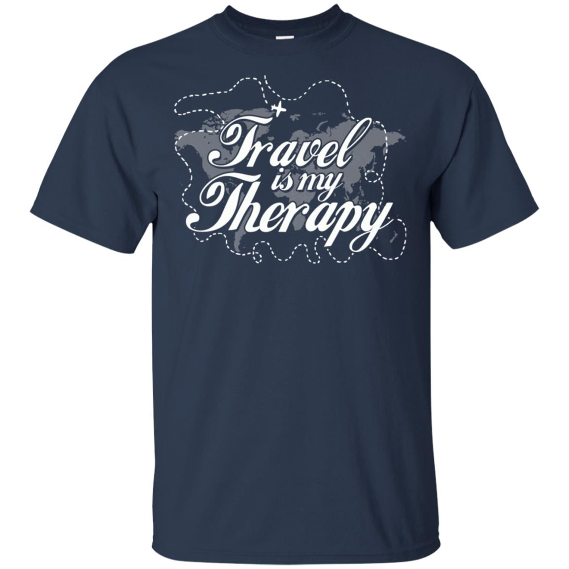 Love to Travel Travel Is my Therapy Travel Lovers Unisex Short Sleeve