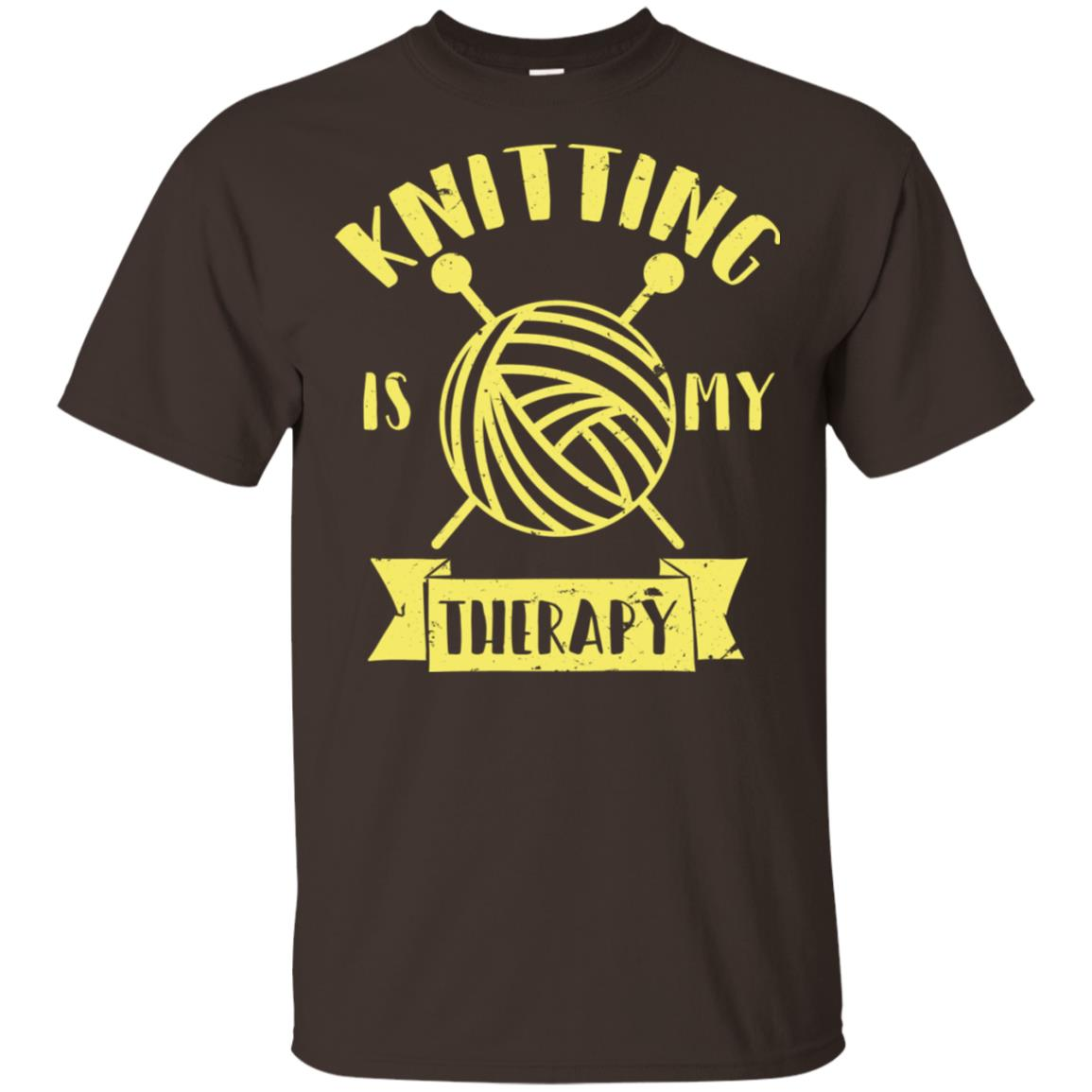 Knitting Needles Knitting Is My Therapy Unisex Short Sleeve