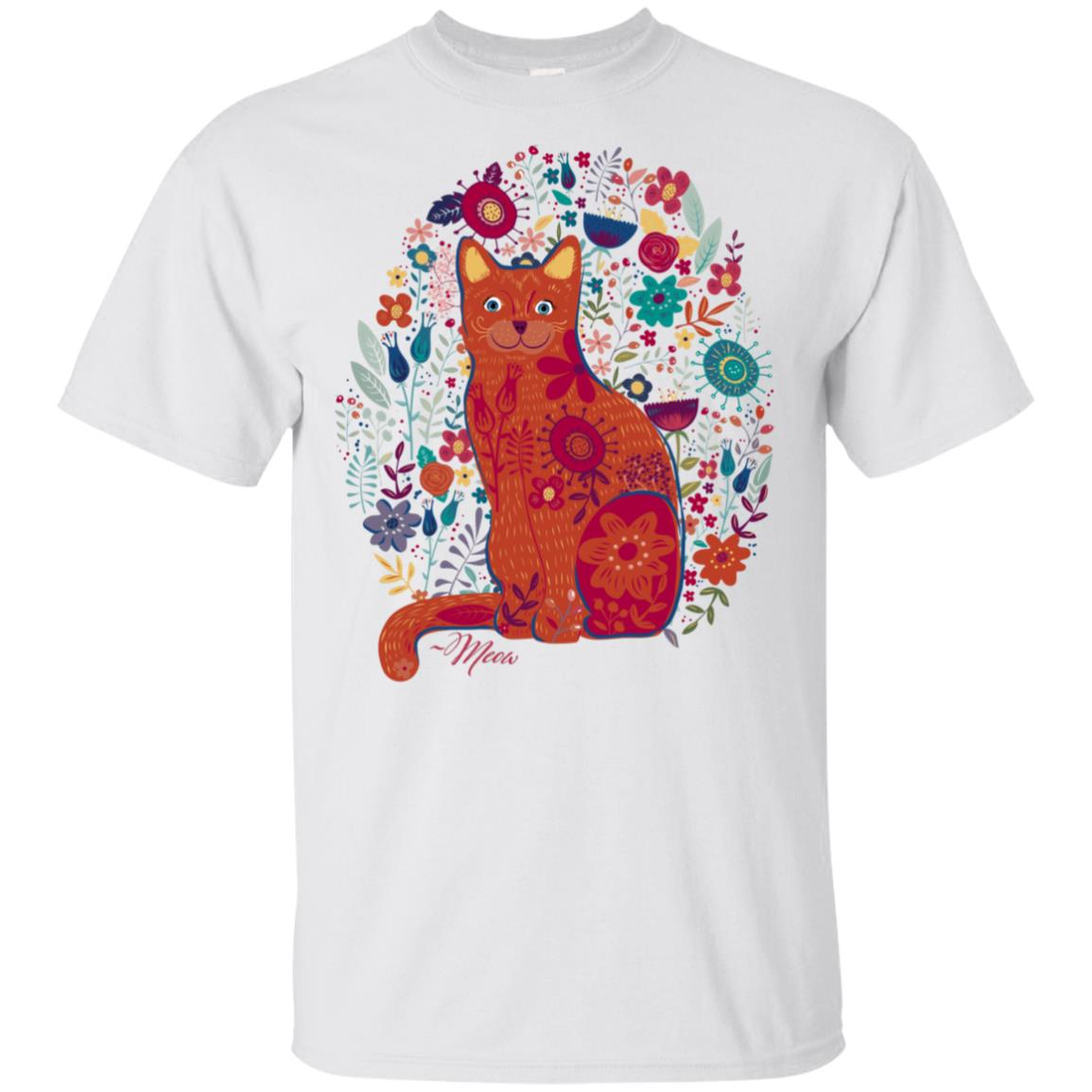 Meow, Cat for craft ladies who love folk art and craft Unisex Short Sleeve