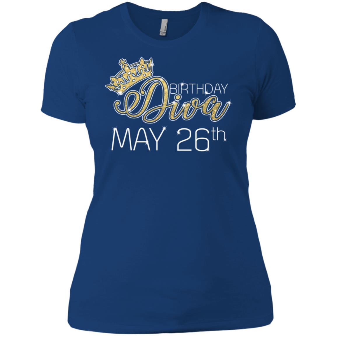 Birthday Diva on May 26th Taurus Pride Women Short Sleeve