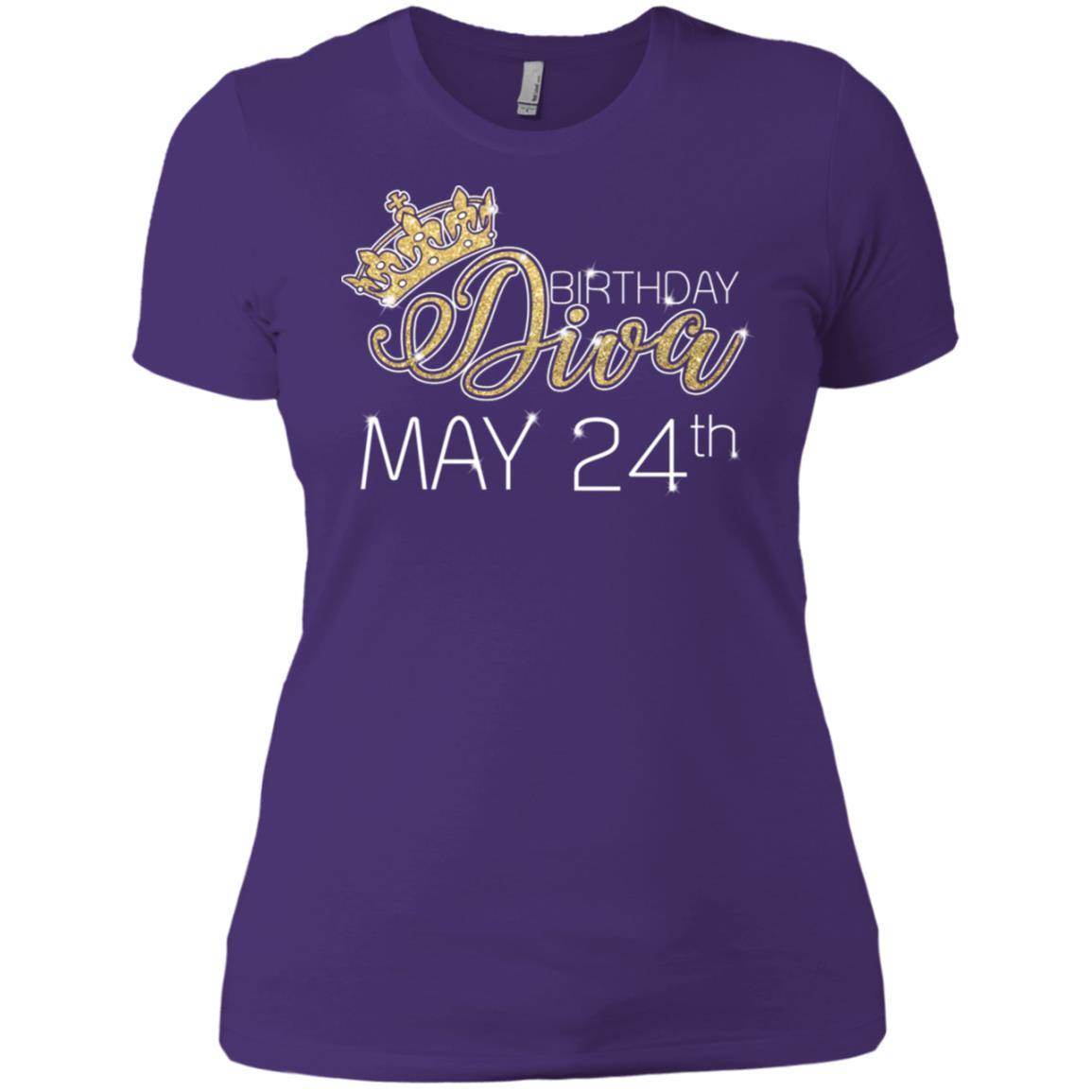 Birthday Diva on May 24th Taurus Pride Women Short Sleeve