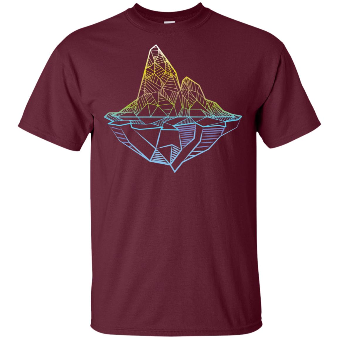 Minimal Mountains Geometry Art Hiking Outdoor Unisex Short Sleeve