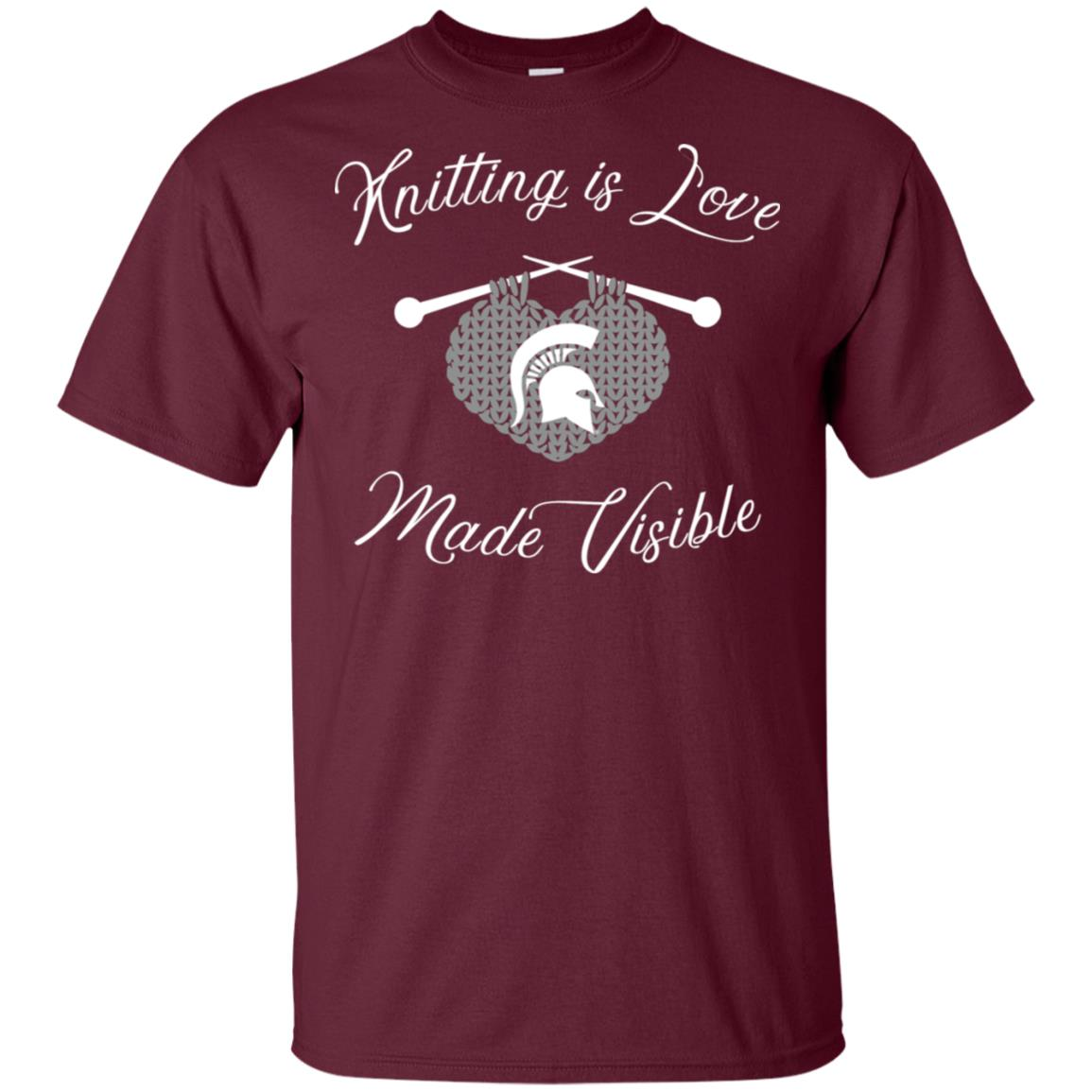 Michigan State Spartans Knitting – Knitting Is Love Unisex Short Sleeve