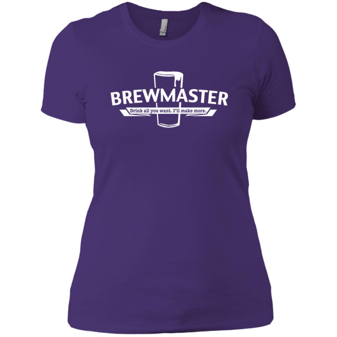 Brewmaster – Craft Beer Home Brewer Gift Tee Women Short Sleeve